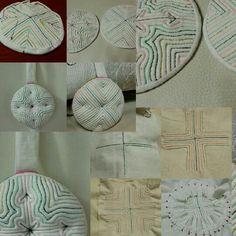 saeksil-nubim (korean traditional quilt) Traditional Quilts, Korean Traditional, Kantha Stitch, Needlecrafts, Japanese Design, Boro, Hand Sewing, Quilting, Textiles