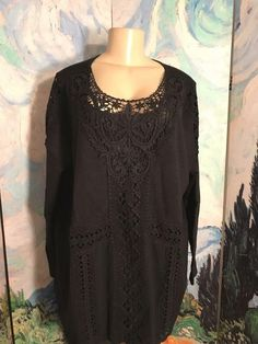 Ladies Brand New Ivory White Black Floral Tunic Top Blouse Plus Size 16-24
