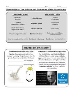 This is a graphically designed set of guided notes about the Cold War ...