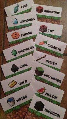 Resultado de imagen de Free Printable Minecraft Food Tent Labels