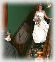 bridal party on house stairwell - Google Search