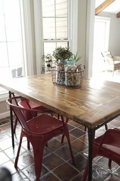 s 17 insanely easy ways to make ikea furniture look amazingly high end, painted furniture, Turn a glass top table farmhouse with wood