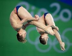 #rio2016 Tom Daley and Daniel Goodfellow of United Kingdom celebrate winning bronze in the Men's Synchronised 10m Platform
