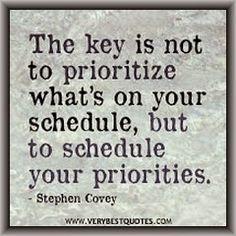 SpiegelGedachte: Organiseer je agenda rondom je prioriteiten