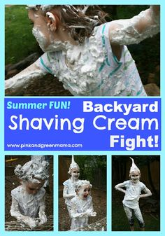 End of Summer Celebration: Backyard Shaving Cream Fight Fun!