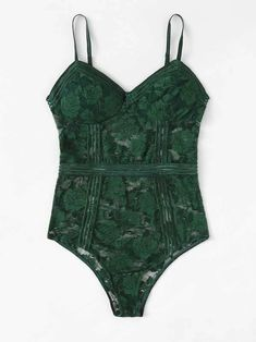 To find out about the Floral Lace Teddy Bodysuit at SHEIN, part of our latest Sexy Lingerie ready to shop online today! Lingerie Verde, Lingerie Bonita, Green Lingerie, Jolie Lingerie, Pretty Lingerie, Luxury Lingerie, Teddy Lingerie, Green Bodysuit, Teddy Bodysuit