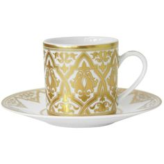 Bernardaud Venise After-Dinner Cup (835 HKD) ❤ liked on Polyvore featuring home, kitchen & dining, drinkware, kitchen, furniture, mugs, white cups, bernardaud and white mug