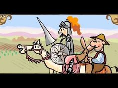 Cuentos infantiles El ingenioso hidalgo Don Quijote de la Mancha - YouTube. This video is a kids cartoon of Don Quijote.