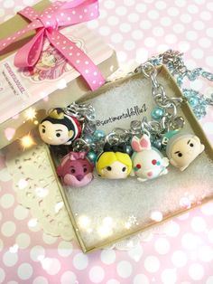 Tsum Tsum, Alice in Wonderland, Alice in Wonderland Necklace, Queen of hearts, Mad Hatter, Cheshire Cat, READY TO SHIP