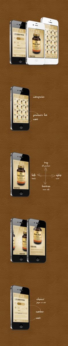 solgar app by Michal Galubinski, via Behance