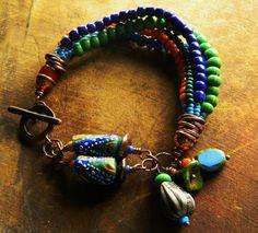 Krobo and Trade Bead Bracelet by Gloria Ewing
