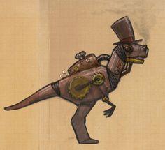Steampunk dinosaur by Zorayas.deviantart.com on @deviantART