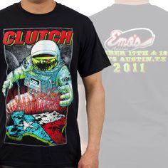 """Clutch """"Emo's Show"""" T-Shirt at http://www.indiemerch.com"""