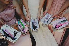 """custom  bridesmaid gifts personalized by oatmeallacedesign on Etsy, $50.00"""" monogrammed name inside Gifts: lip gloss mascara, mirror, blot paper, makeup wipes, bracelet"""