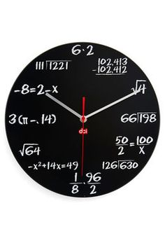 Solve Some Time Clock in Black, #ModCloth