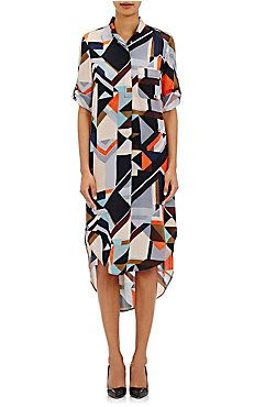 Foundrae Geometric-Print Shirtdress