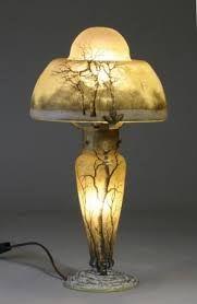 Daum - Art Nouveau glass - Lampada da tavolo