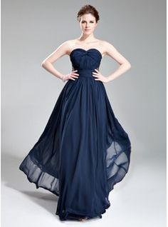 Special Occasion Dresses - $156.99 - A-Line/Princess Sweetheart Floor-Length Chiffon Evening Dress With Ruffle Beading  http://www.dressfirst.com