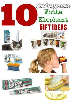 10 Outrageous White Elephant Holiday Gifts | Gift Exchange - Gag gifts