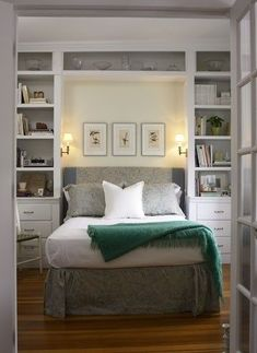 Bedroom storage ideas for small rooms double bed ideas for small rooms best small bedrooms ideas . bedroom storage ideas for small rooms Small Master Bedroom, Home Bedroom, Girls Bedroom, Bedroom Green, Master Suite, Bedroom Photos, Bedroom Nook, Bedroom Office, Ikea Small Bedroom
