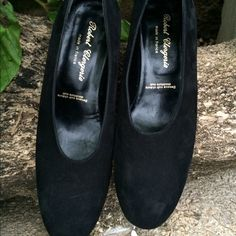 """Robert Clergerie Black Suede Pumps Gently used, elegant and sexy round toe deep cut and a 2.5"""" heel.  Robert Clergerie Shoes Heels"""