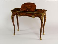Beautiful writing desk made for the Dauphine Marie-Thérèse-Raphaëlle, the wife of Louis XV's son.  Discover more about 18th Century France at http://leahmariebrownhistoricals.blogspot.com
