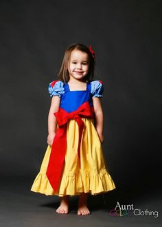 Inspired Snow White Princess Costume. I like the big red bow and the skirt is a possibility instead of tulle.