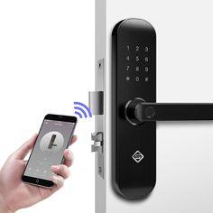 Biometric Fingerprint Lock, Security Intelligent Lock With WiFi APP Password RFID Unlock,Door Lock Electronic Hotels Biometric Security, Security Surveillance, Security Alarm, Security Camera, Surveillance System, Security Gadgets, Camera Surveillance, Best Security System, Home Security Tips