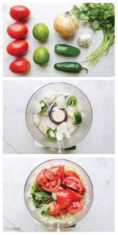 So simple and minute Garden Fresh Salsa. So simple and delicious! Whole 30 Recipes, New Recipes, Cooking Recipes, Favorite Recipes, Dishes Recipes, Summer Recipes, Bread Recipes, Healthy Snacks, Healthy Eating