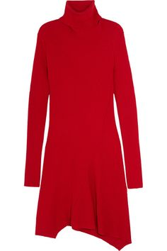 Red wool, silk and cashmere-blend Slips on 70% virgin wool, 20% silk, 10% cashmere Dry clean Designer color: Cherry