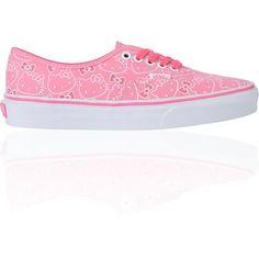 Hello Kitty Vans Hawaiian Pink Girls Authentic Shoe