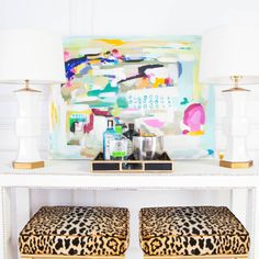 """Roxy Te on Instagram: """"Symmetry...easy like Sunday morning.  Styled up this glam entryway and everything you see in this vignette is in the #SocietySocial BIRTHDAY SALE up to 30% off! (Pineapple stools are custom and fabric can be purchased!) >> www.shopsocietysocial.com > furniture > SS BDAY Sale!"""""""