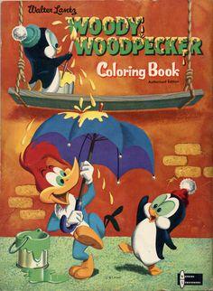 Libro para colorear del Pájaro Loco