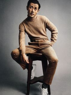 Never been a monochromatic guy. But, this corduroy on cashmere blend is smooth. Fashion Model Poses, Fashion Photography Poses, Male Photography, Poses For Men, Male Poses, Man Street Style, Sitting Poses, Studio Shoot, Studio Portraits