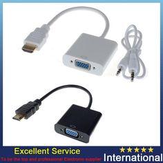 HDMI TO AV Scaler Adapter HD Video Converter Box HDMI to RCA