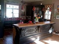 Antique store counter. Will definitely be looking for this at Round Top.