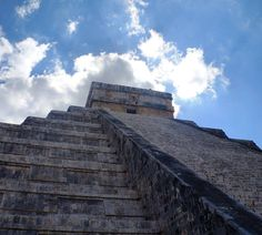 """Chichen Itza Mexico - May 2013 (2 of 14)  _  Stairway to heaven.  _ """"Life is a series of steps. Things are done gradually. Once in a while there is a giant step but most of the time we are taking small seemingly insignificant steps on the stairway of life."""" - Ralph Ransom  _  #mexico  #yucatan  #7wonders"""