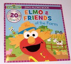 Sesame Street Elmo And Friends At The Farm Sing Along Book CD Learning 20 Songs  #SesameStreet