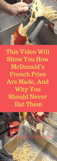 This Video Will Show You How McDonald's French Fries Are Made, And Why You Should Never Eat Them Lose Weight Naturally, How To Lose Weight Fast, Get Healthy, Healthy Skin, Healthy Foods, Health Advice, Health Articles, Essential Oils For Skin, Weight Loss Water
