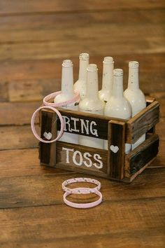 Rustic Ring Toss Gamepinkreclaimed barn by RefunkedJunkies on Etsy