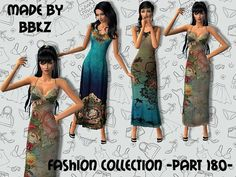 No EP required. :-) Found in TSR Category 'Sims 2 Clothing Sets' Sims 1, 2000s, Outfit Sets, Strapless Dress, Summer, Clothes, Collection, Dresses, Fashion