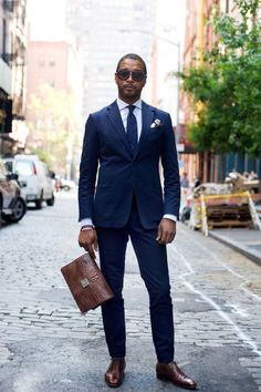 This navy suit would be a smart decision for the Inaugural Ball. You would be able to stand out amongst the other black suits and tuxedos!