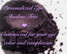Personalized Eye Shadow Trio, Customized just for you. via etsy