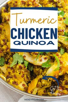 This gluten free chicken recipe that you can make on the weekend for meal prep is PERFECT for my healthy diet. I am so happy I found this Healthy Chicken and Quinoa. Is is easy to make and SO full of flavor. Quinoa Recipes Easy, Gluten Free Recipes For Dinner, Healthy Gluten Free Recipes, Baked Chicken Recipes, Dinner Recipes, Quinoa Gluten Free, Gluten Free Chicken, Meal Prep, Cooking Recipes
