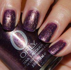 "orly ""oui"" - metallic purple with gold shimmer (really hard to take off)"