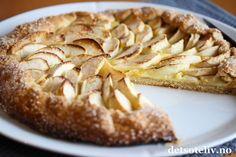 Galette med epler og vaniljekrem (Eplepai uten form) | Det søte liv