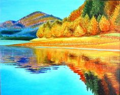 Oil paintings – Golden autumn - original oil painting on canvas – a unique product by ArtByTatianaZ on DaWanda