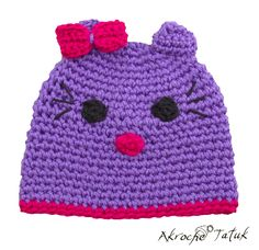 Tuque Hello Kitty mauve
