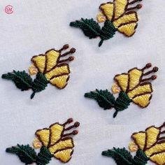 hand embroidery all over design for dress - broidery Simple Hand Embroidery Designs, French Knot Embroidery, Hand Embroidery Projects, Hand Embroidery Videos, Embroidery Stitches Tutorial, Embroidery Sampler, Hand Work Embroidery, Embroidery Flowers Pattern, Bead Embroidery Jewelry