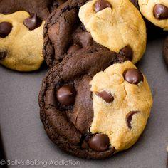 Soft-Baked Peanut Butter Chocolate Swirl Cookies by sallysbakingaddiction.com @Sally M. [Sally's Baking Addiction]